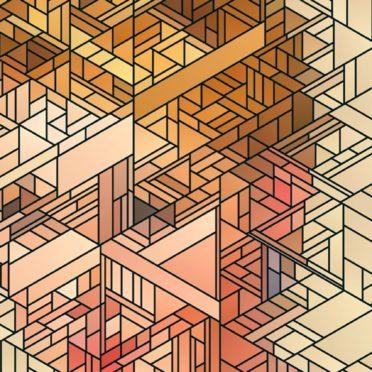 キャラクールモザイクの iPhone7 壁紙
