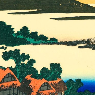 クール絵富士山の iPhone7 壁紙