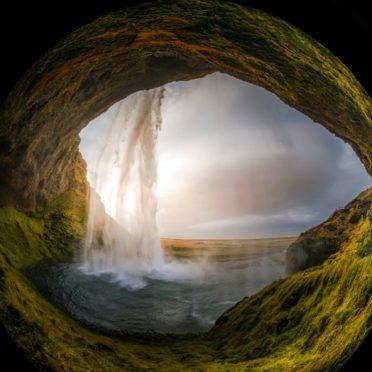 風景魚眼レンズの iPhone7 壁紙