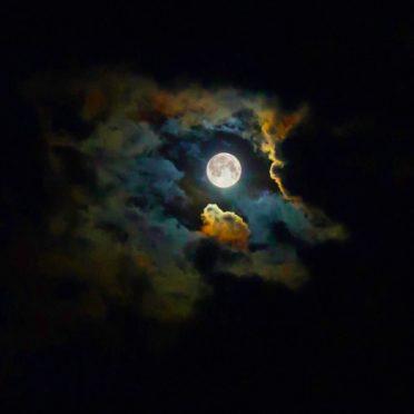 風景月黒光の iPhone7 壁紙