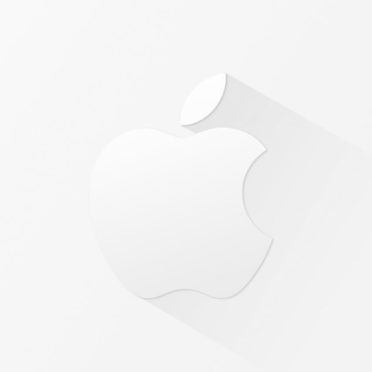 Appleロゴ白クールの iPhone7 壁紙