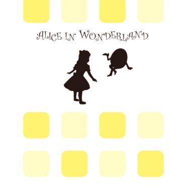 黄棚アリス女子向けの iPhone7 壁紙
