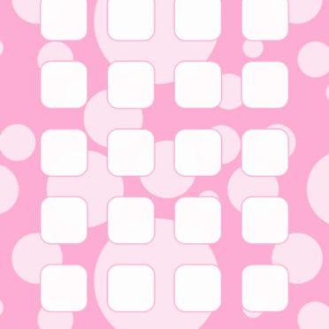 模様水玉桃棚女子向けの iPhone7 壁紙