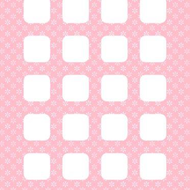 模様花桃女子向け棚の iPhone7 壁紙