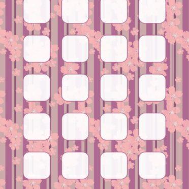 模様花イラスト紫棚の iPhone7 壁紙