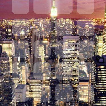 風景マンハッタンクール棚の iPhone7 壁紙