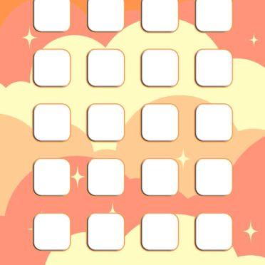 模様橙桃黄棚女子向けの iPhone7 壁紙