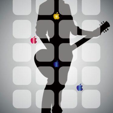 棚クールキャラ黒銀appleの iPhone7 壁紙