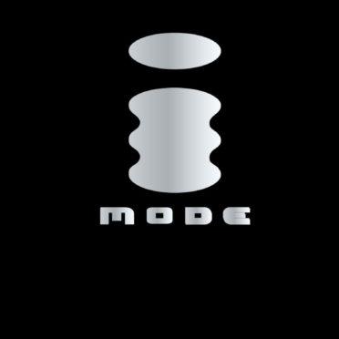 ロゴiモード黒銀の iPhone7 壁紙