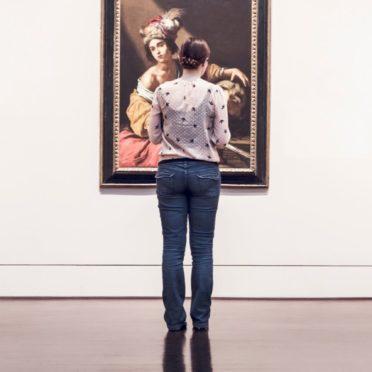 キャラ女性絵画の iPhone7 壁紙