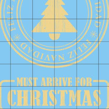 棚クリスマス青女子向けの iPhone7 壁紙