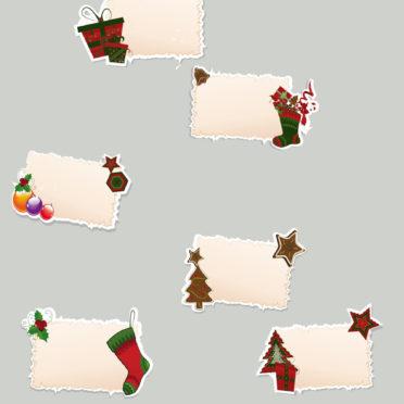 クリスマス灰赤プレゼントの iPhone7 壁紙