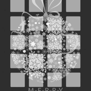 棚黒クリスマス女子向けの iPhone7 壁紙