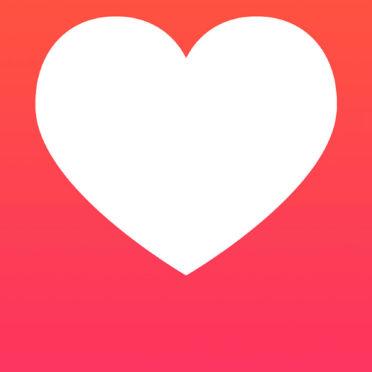 イラストハート赤女子向けの iPhone7 壁紙