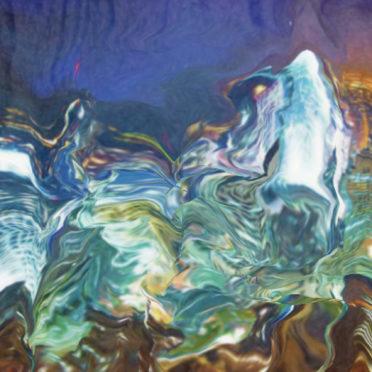 模様イラスト青紫クールの iPhone7 壁紙
