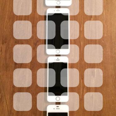 iPhone4s,iPhone5s,iPhone6,iPhone6Plus木板茶色棚の iPhone7 壁紙