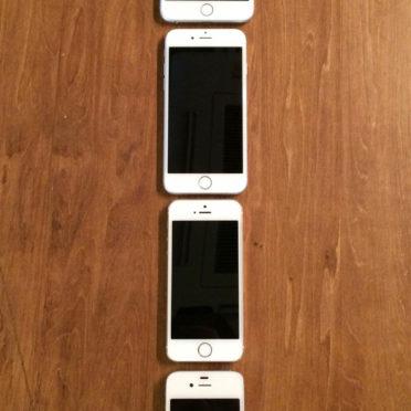 iPhone4s,iPhone5s,iPhone6,iPhone6Plus木板茶色の iPhone7 壁紙