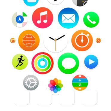 Apple Watch風白棚の iPhone7 壁紙