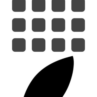 Appleロゴ棚白黒の iPhone7 壁紙