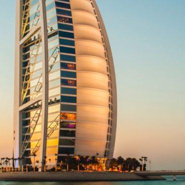 風景海ホテルBURJ AL ARABドバイの iPhone7 壁紙