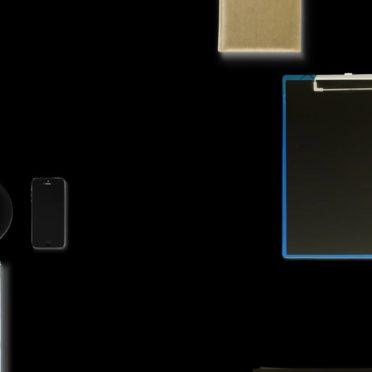 文房具黒の iPhone7 壁紙