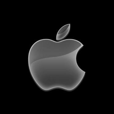 Appleロゴ黒クールの iPhone7 壁紙