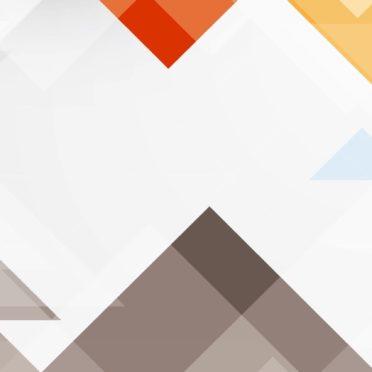 模様三角形白青赤の iPhone7 壁紙