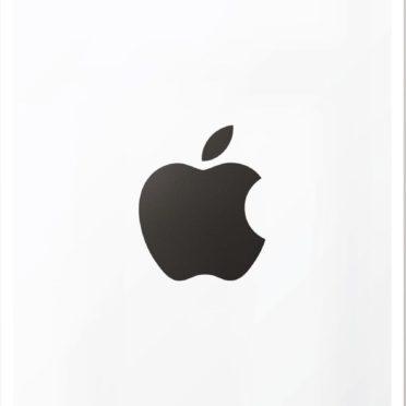 Appleロゴ白黒クールポスターの iPhone7 壁紙