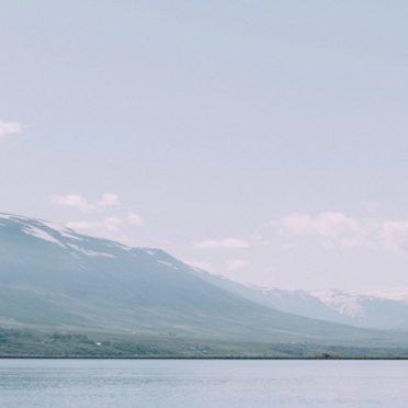 風景白青山海の iPhone7 壁紙