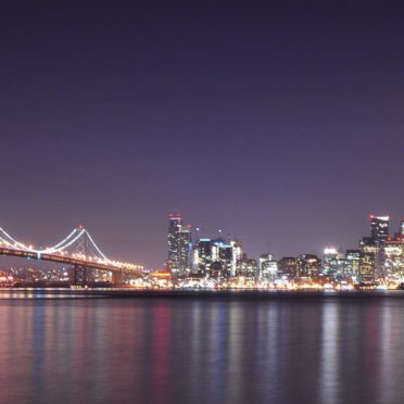風景夜景港の iPhone7 壁紙