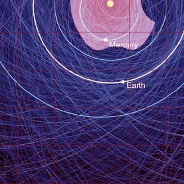 Appleロゴ棚クール赤紫太陽系