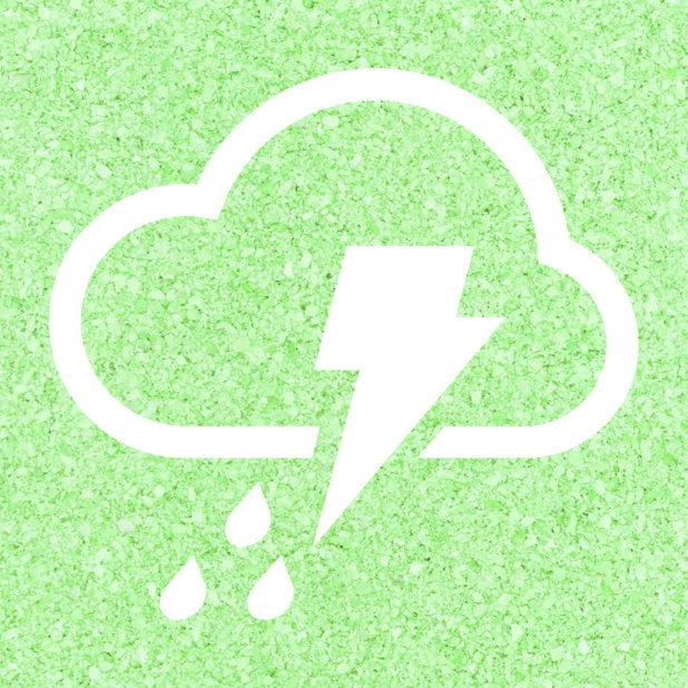 曇雨雷緑の iPhone7 Plus 壁紙