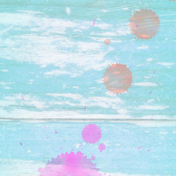 木目水滴青橙の iPhone7 Plus 壁紙