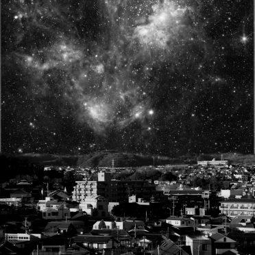 風景夜空黒の iPhone8 壁紙